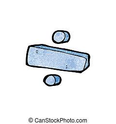 division, symbole, dessin animé