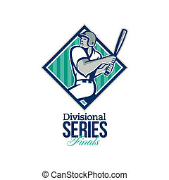 Divisional Baseball Series Finals Retro - Illustration of a ...