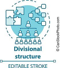 Divisional corporate structure concept icon. Organization ...