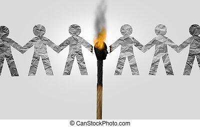 Divisive Politics - Divisive politics and a symbol for a ...