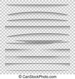 divisor, grupo, painel, modelo, papel, elementos, desenho, sombra, dividers., abas, linha, quadro, borda, webpage, teia, efeitos