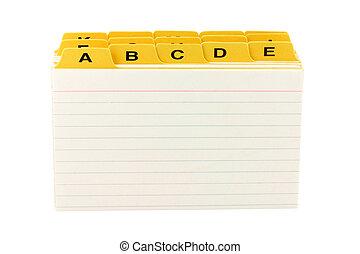 divisore, giallo, file
