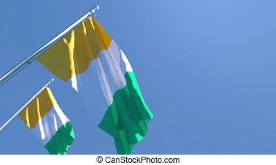 divoire, cote, drapeau, national, de