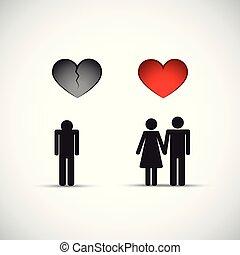 divorce and new relationship broken heart sad man