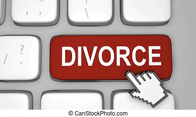 divorce, clã©, clavier