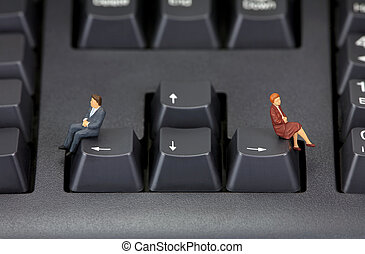 Divorce concept - Concept image depicting a divorce or a...