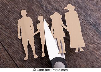 divorce, concept, famille