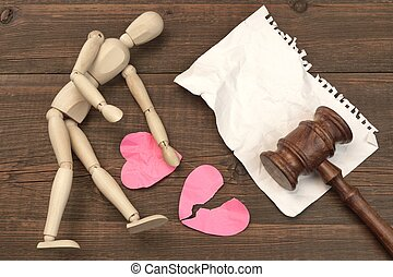 Divorce Concept In The Court. Gavel, Law Book, Judges Gavel