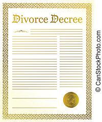 Divorce Decree documents
