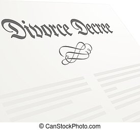 Divorce Decree - detailed illustration of a Divorce Decree...