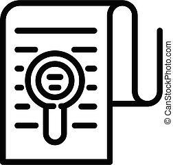 Divorce document icon, outline style
