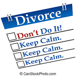 Divorce Don%u2019t Do It - A diary image with divorce on it ...