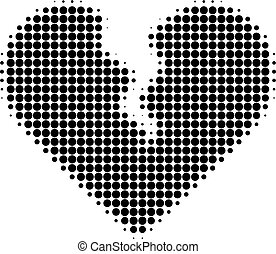 Divorce Heart Halftone Dotted Icon
