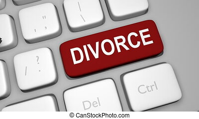 Divorce keyboard key animation shot clip