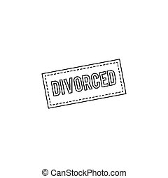 Divorce line icon