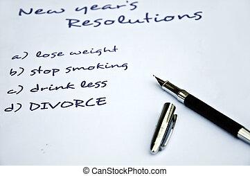 Divorce resolution