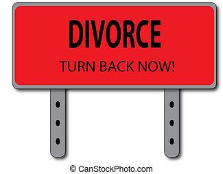 Divorce Sign Concept
