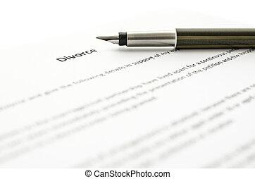 divorce, signant papiers