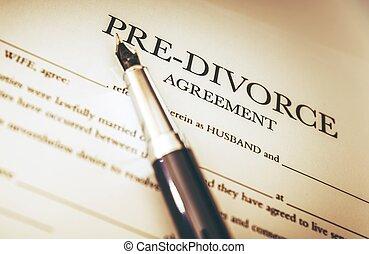 divorce, signer, documents