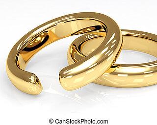 Symbol of divorce - broken wedding ring
