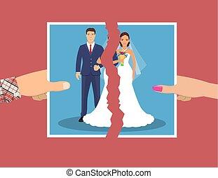 Break up of relationship.