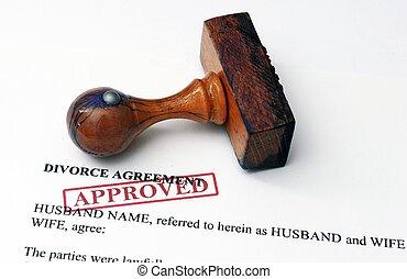 divorcio, acuerdo, -, aprobado