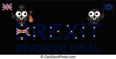 divorcio, brexit, trato
