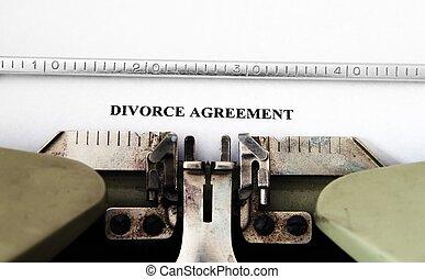 divorzio, accordo