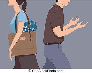 divorzio, attività, divisione