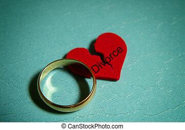divorzio, concetto