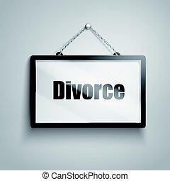 divorzio, testo, segno
