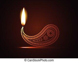 diwali, 創造的, diya