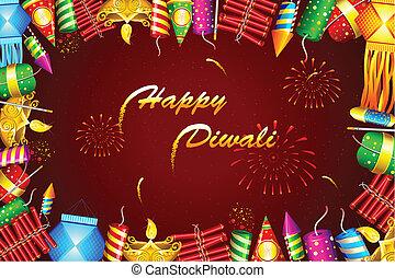 Diwali Background - illustration of diwali background with...