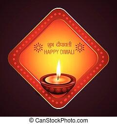 Diwali background with diya