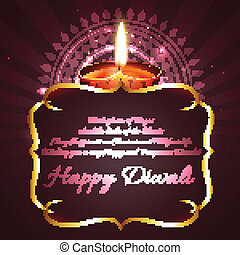 Diwali background with space for your text