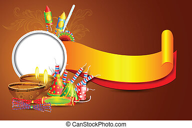 Diwali Banner - easy to edit vector illustration of Diwali...