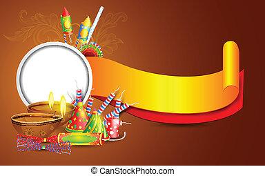 Diwali Banner - easy to edit vector illustration of Diwali...