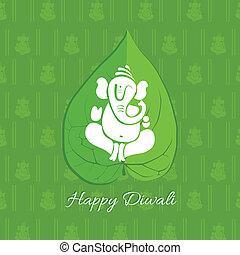 Diwali betel leaf background