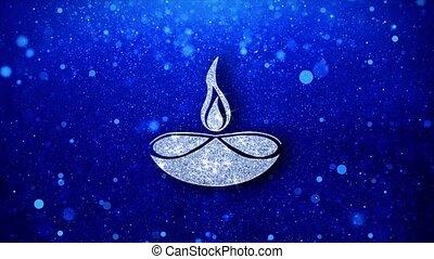 Diwali, diwali diya, diwali lamp, diya Icon Blinking Glitter...