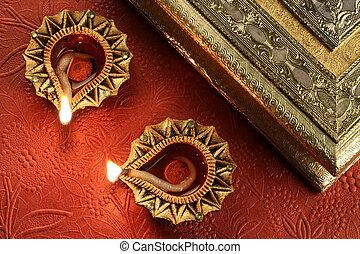 Diwali Diya Lamps - Indian Festival of Lights