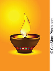Diwali Diya - Oil lamp for deepawali celebration