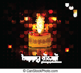 Diwali Diya Oil Lamp indian festival colorful circle background