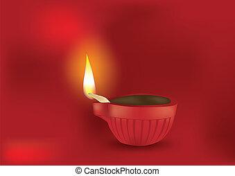 Diwali Diya Vector Illustration