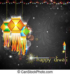 diwali, függő, világító