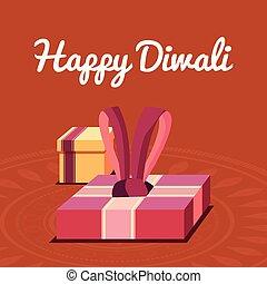 diwali, feliz, celebração