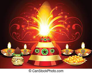 Diwali festival Background