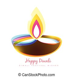 diwali festival - colorful diwali diya seasonal background