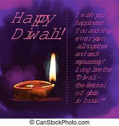 Diwali festival - Diwali, the festival of lights in India,...