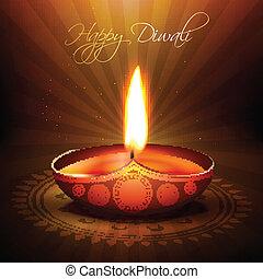 diwali festival diya - beautiful diwali diya vector...