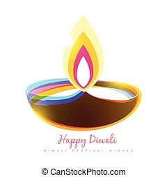diwali festival - colorful diwali diya seasonal background